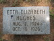 "Etta Elizabeth ""Little Elizabeth"" Hughes"
