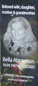 Profile photo:  Bella Abramson