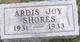 Profile photo:  Ardis Joy Shores
