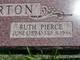 Profile photo:  Ruth <I>Pierce</I> Barton
