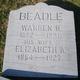 """Elizabeth A. """"Betsey"""" <I>Burd</I> Beadle"""