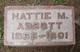 Profile photo:  Hattie M <I>Couter</I> Abbott