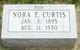 Profile photo:  Nora E. <I>Bowser</I> Curtis