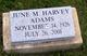 Profile photo:  June M. <I>Harvey</I> Adams