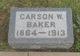 Profile photo:  Carson W. Baker
