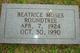 Profile photo:  Beatrice <I>Moses</I> Roundtree