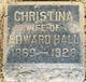 Christina <I>Ramstetter</I> Hall