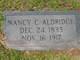 Profile photo:  Nancy C. Aldridge