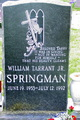 "William Tarrent ""Tarry"" Springman, Jr"