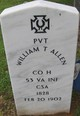 Profile photo: Pvt William Thomas Allen