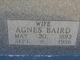 Profile photo:  Agnes <I>Baird</I> Dial