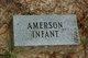 Profile photo:  Infant Amerson