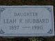 Leah Ray <I>Moore</I> Hubbard