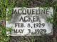 Profile photo:  Jacqueline Acker
