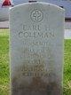 MAJ Earl H Coleman