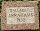 Profile photo:  Wallace Leon Abrahams