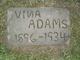 """Profile photo:  Malvina """"Vina"""" <I>Adams</I> Adams"""
