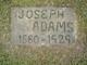 "Profile photo:  Joseph ""Joe"" Adams"