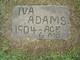 "Profile photo:  Iva ""Sweety"" Adams"