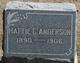 Hattie C Anderson
