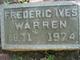 Frederick Ives Warren