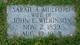 "Sarah Anne ""Sally"" <I>Mulford</I> Wilkinson"