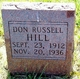 Profile photo:  Don Russell Hill