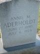 Profile photo:  Annie M Aderholdt
