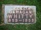Cecelia <I>Gahagan</I> Whitty