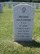 Profile photo: Sgt Freddie Alexander