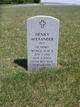 Pvt Henry Alexander