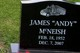 """James Andrew """"Andy"""" McNeish"""