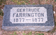 Mary Gertrude Farrington