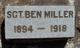Sgt Ben Miller