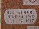 Profile photo: Rev Albert Chitwood
