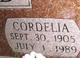 Profile photo:  Cordelia <I>Wright</I> Chitwood