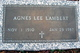 Agnes Lee <I>Roberts</I> Lambert