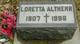 Profile photo:  Loretta M <I>Koors</I> Altherr