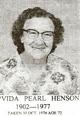 Vida Pearl <I>Henson</I> Mott