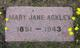 Mary Jane Ackley