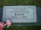 Jo Ann <I>Wallis</I> Baker