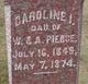 Caroline I Pierce