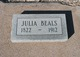 Julia Ann <I>Wells</I> Beals