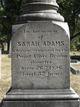 Profile photo:  Sarah <I>Brown</I> Adams