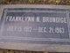 """Franklynn Newton """"Frank"""" Brundige"""