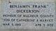 "Profile photo:  Benjamin ""Frank"" Dickerson"