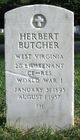 Profile photo: Lieut Herbert Butcher