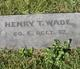 Profile photo: Pvt Henry T. Wade