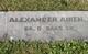 PVT Alexander Aiken