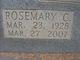 Rosemary <I>Conn</I> Barber  Tidwell